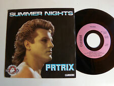 "PATRIX (Watelet) : Summer nights / California - 7"" 45T 1984 French CARRERE 13518"