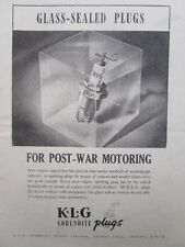 9/1945 PUB KLG SPARKING PLUGS CORUNDITES PLUGS BOUGIES AVIATION ORIGINAL AD
