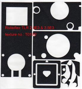Rolleiflex 2.8E3 / 3.5E3 replacement leatherette cover pre-cut self-adhesive!