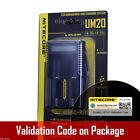 New NITECORE UM20 USB Digi charger Li-ion 18650 18500 14500 18350 16340 D2 i2