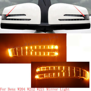 MIRROR INDICATOR SIDE TURN SIGNAL BLINKER LAMP For Mercedes C E W204 W212 W221
