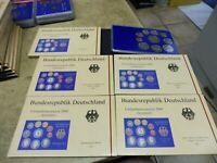 BRD , KMS / Coin Set PP , 2000 A D F G J komplett , im Original Folder