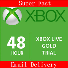 XBOX LIVE 2 Day 48 Hrs GOLD Trial Membership Digital Code Xbox One Xbox 360 Code