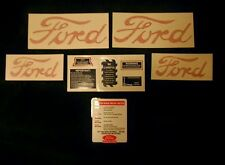FORD Decal Set 8N Complete - Hood & Fender Decals are Vinyl