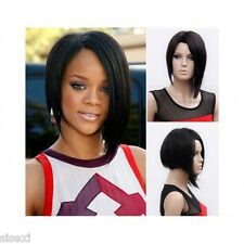 PERRUQUE LUXE RIHANNA SEXY ADULTE FEMME BRUNE WIG CHEVEUX DéGUISEMENT PERRUCCA
