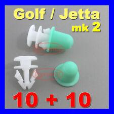 VW MK2 Golf Jetta DOOR SIDE MOULDING CLIPS TRIM STRIP WHEEL ARCH RUBBING STRIP