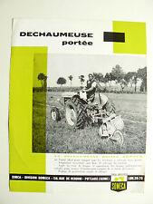 Prospectus Tracteur   SOMECA  Déchaumeuse  Portée  1963  brochure catalogue