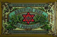 Max. Monnot Absinthe Blechschild Schild 3D geprägt gewölbt Tin Sign 20 x 30 cm