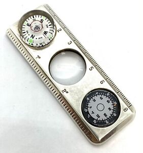 Tiffany & Co  Sterling Silver Compass/Ruler/Magnifying Glass/Thermometer