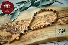 Olive Wood Olivewood Anglican Rosary Prayer Beads Brown Rope Handmade Holy Land