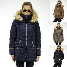 Damen Jacke Winterjacke Daunenjacke Parka Mantel Schnee Warm Winter Kapuze Neu