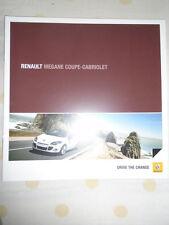 Renault Megane Coupe Cabriolet brochure Apr 2010 UK market