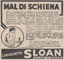 V0238 Mal di schiena - LINIMENTO SLOAN - Pubblicità d'epoca - 1938 advertising