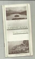 DEPLIANT GUIDA TURISTICA D' EPOCA  LA JUGOSLAVIA TURISTICA