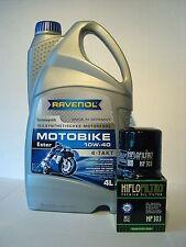 Ravenol Motobike 10W40 Olio + Filtro Honda VFR750F RC24 RC30 RC36, Bj 1986-1997