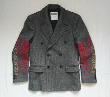 Moschino Couture Embroidered Herringbone Runway Jacket