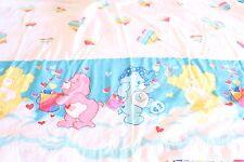 Vtg 2002 Care Bears Rainbow Hearts Quilt Cutter Fabric Twin Flat Sheet