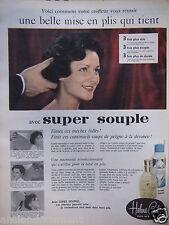 PUBLICITÉ 1959 SUPER SOUPLE HELENE CURTIS MISE EN PLIS QUI TIENT - ADVERTISING