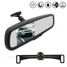 "4.3"" LCD Car Rear View Mirror Screen Monitor System + Night Vision Backup Camera"