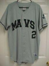 Rawlings Mavericks #2 Mavs Baseball Club Men Gray Jersey M Russell Dri Power