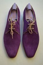 """John Lobb Paul Smith """"Willoughby"""" Regal Purple Suede Shoes UK 8.5 US 9.5 New"""