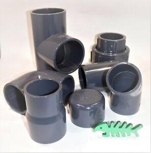 90 mm PVC  Solvent Weld PRESSURE Pipe Fittings, koi, pond, aquatics.
