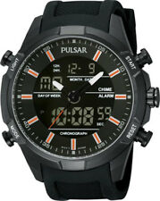 Pulsar Mens Analogue Digital Chronograph Rubber Strap Watch - PNP PW6007X1