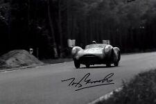Tony Brooks Aston Martin DBR1 Le Mans 1956 Signed Photograph