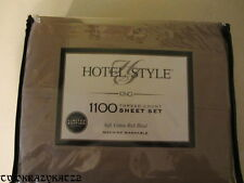 Hotel Style 1100 Thread Count Sheet Set King Size Brown/Taupe