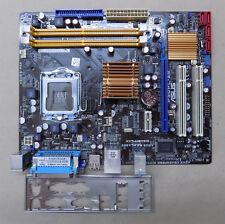 Mainboard ASUS P5QPL-AM Rev1.04 Sockel 775 DDR2 SATA PCI-E USB mATX +Blende #A08