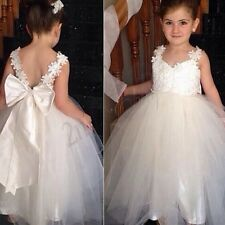 Kids Communion Party Fancy Event Chrisening Occasion Wedding Flower Girl Dresses