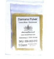 DAMIANA 10 Gramm Pulver (Tunera diffusa)  FOKUS ENTSPANNT