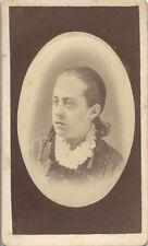 CDV PORTRAIT OF BEAUTIFUL WELL-DRESSED WOMAN - LOCKPORT, NY