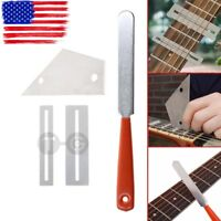 Guitar Fret Crowning File Leveling Grinding Tool Shim Kit For Guitarist Luthier
