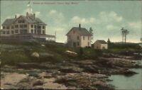 Harpswell ME Buildings - Casco Bay c1910 Postcard