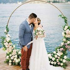 Wedding Stand Circle Arch Flower Rack Backdrop Prop Gold Metal Round Garden