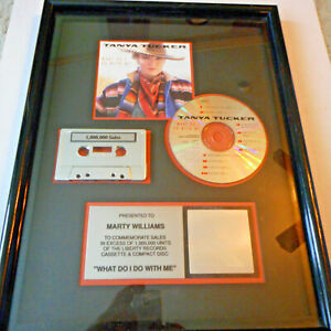 Tanya Tucker What Do I Do With Me  RIAA Award Plaque