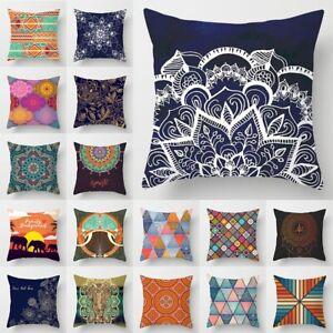 Mandala Print Pillow Case Mandala Ultra Soft Sofa Throw Cushion Cover Home Decor