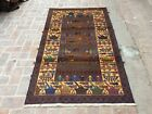 Unique PIECE OF AFGHAN WAR RUG SHOWING TANK , WEAPONS
