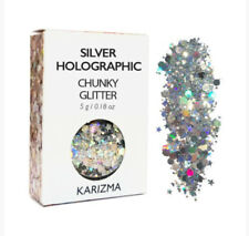 Karizma Silver Holographic Chunky Cosmetic Festival Glitter Face Body Hair Nails