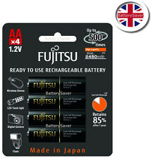 Fujitsu Black PRO AA High Capacity (2450 mAh) NiMH rechargeable battery (4 pack)