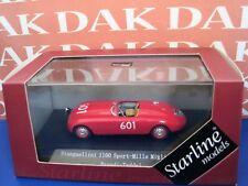 Die cast 1/43 Stanguellini 1100 Sport Mille Miglia 1950 N 601 by Starline
