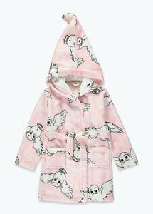 Kids Girls Pink Harry Potter Dressing Gown (5-12yrs) Robe Nightwear