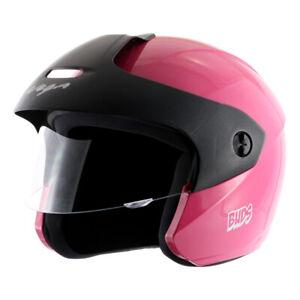 Vega Junior Buds O/F Pink Open Face Helmet