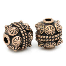 8 Antiqued Copper Tone Metal Fancy CONE SPIKE Spacer Beads 11mm x 10mm  bme0159
