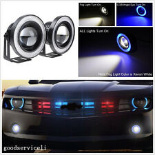 "2 Pcs 2.5"" 15W Blue LED COB Angel Eye Halo Car Fog Light Running Lamps For Honda"