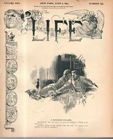 1895 Life June 6 - Income Tax is struck down; Lillian Russell;Bride on a bicycle