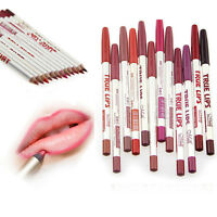 12PCS Set Lot Colors Professional Lipliner Waterproof Lip Liner Pencil Makeup