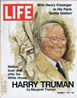 ORIGINAL Vintage Life Magazine December 1 1972 Harry S Truman