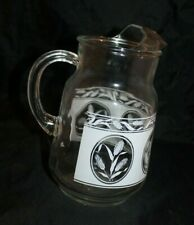 Vintage 2 Quart Lemonade/Ice Water Pitcher; White Wheat Detail